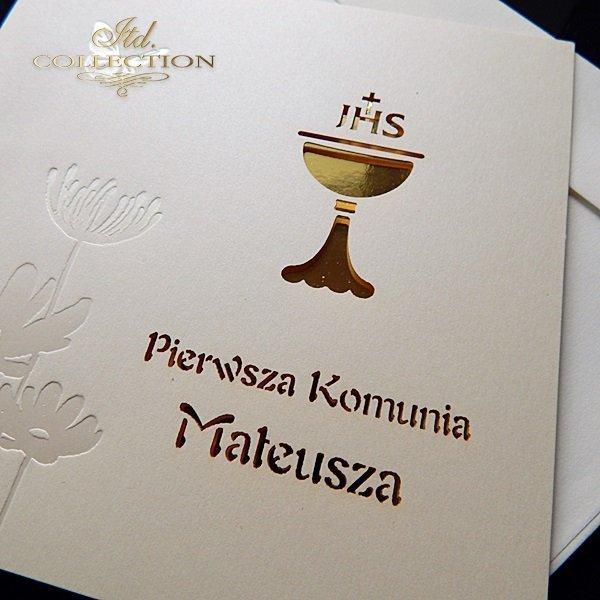 Zaproszenia  na Komunię Świętą 1726_20_złoto