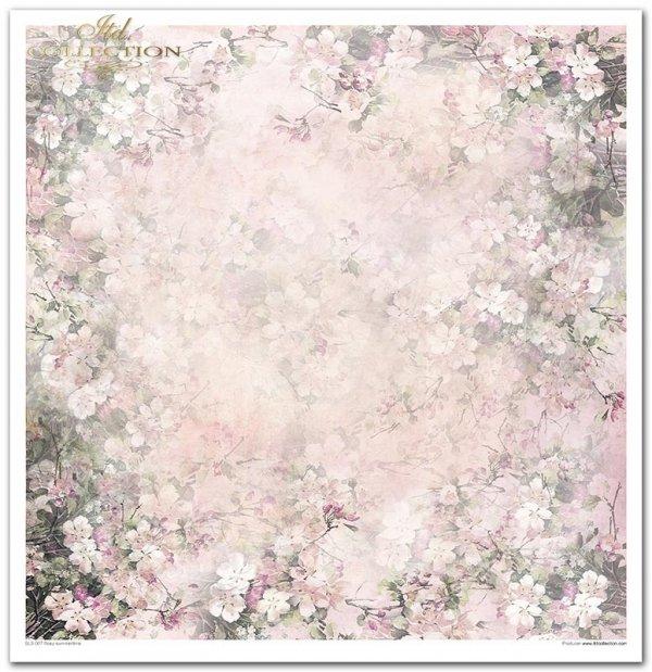 Rosy Summertime-lato w kolorze różowym, ptaki, kwiaty, motyle, łuszcząca się farba, spękaliny, deski, krak