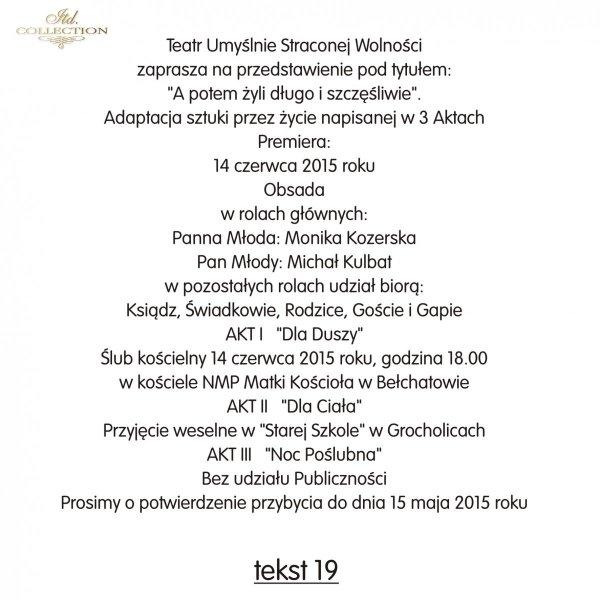 Teksty na ślub - TS19