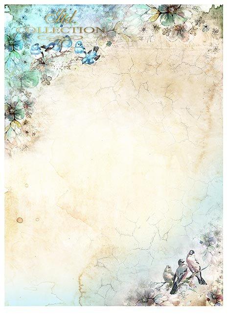 Zestawy-papierow-do-scrapbookingu-zestaw-Lato-w-blekitach-SCRAP-046-12-ptaszki-motylki-akwarelowe-kwiatki-mediowe-struktury-tla-struktury-farb-desek-spekalin-crak