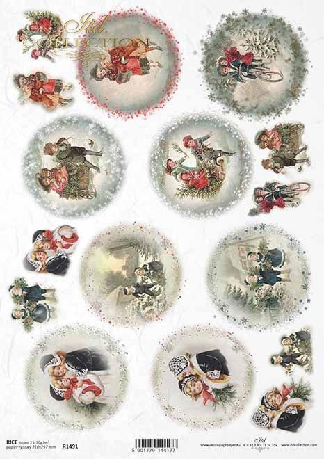 Navidad, temas navideños, niños, motivos para bolas navideñas*Weihnachten, Weihnachtsthemen, Kinder, Motive für Weihnachtskugeln*Рождество, рождественские темы, дети, мотивы для рождественских шаров