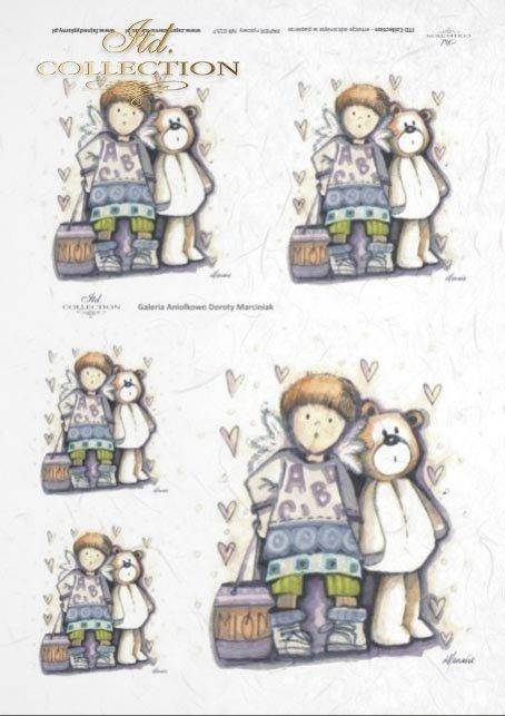 papier-ryżowy-decoupage-anioł-aniołek-aniołki-Dorota-Marciniak-miś-misio-pluszaki-R0157