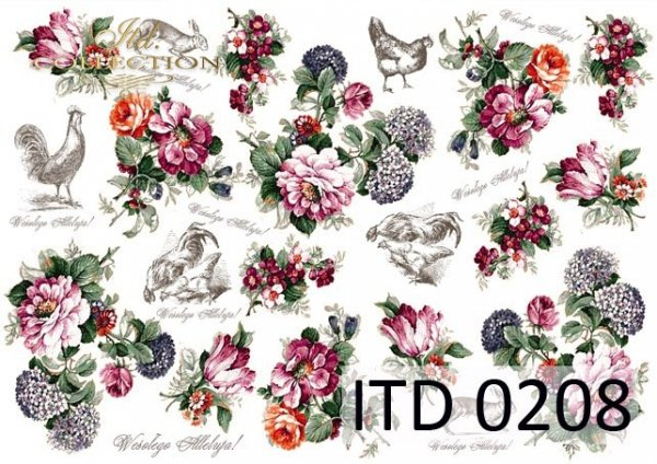 Papier decoupage ITD D0208M