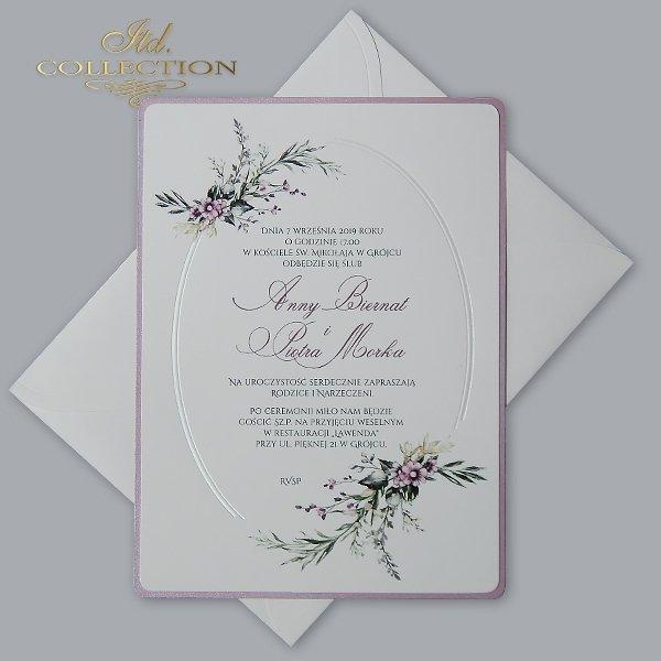 Zaproszenie 2075*Zaproszenia ślubne*zaproszenia na ślub*zaproszenia weselne*zaproszenia z kwiatami*eleganckie zaproszenia