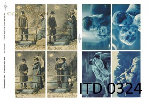 Papier decoupage ITD D0324