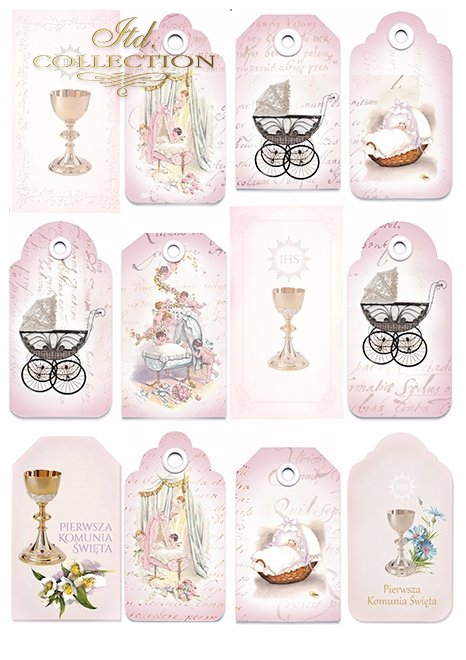 SCRAP-041 'pink dreams' scrapbooking papers set * zestaw papierów do scrapbooking 1