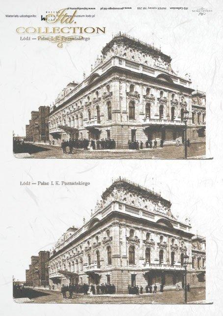 papier ryżowy, R298, decoupage, Pałac Poznańskiego w Łodzi, Łódź, Lodz, Palac Poznanskiego, Poznanski Palace