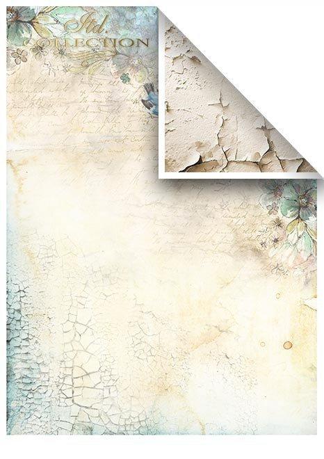 Zestawy-papierow-do-scrapbookingu-zestaw-Lato-w-blekitach-SCRAP-046-16-ptaszki-motylki-akwarelowe-kwiatki-mediowe-struktury-tla-struktury-farb-desek-spekalin-crak