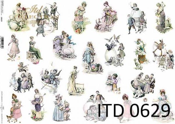 Papier decoupage ITD D0629
