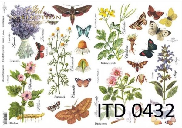 Papier decoupage ITD D0432M