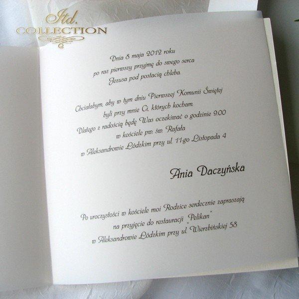 Zaproszenie Komunijne 1732 022 Piękne Zaproszenia Komunijne