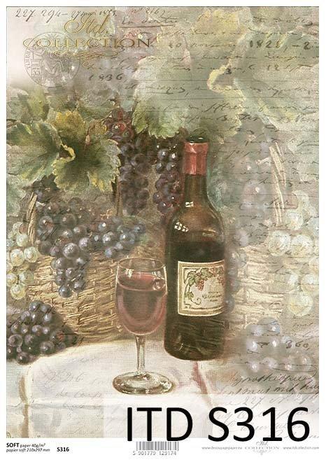 papier decoupage winogrona*paper decoupage grapes