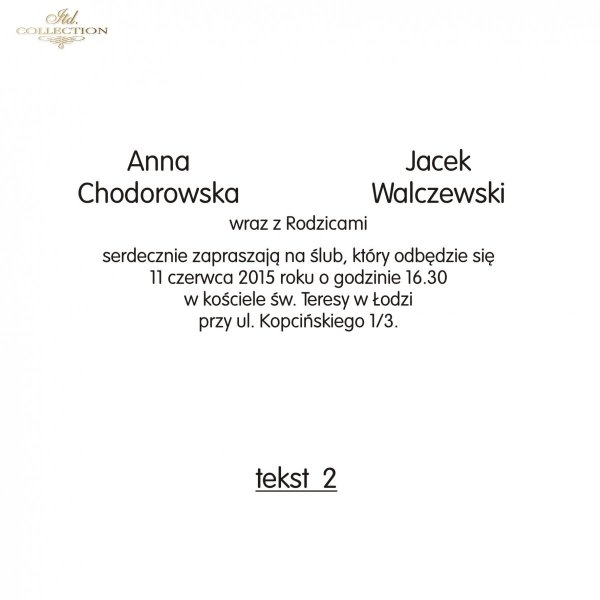 Teksty na ślub - TS02