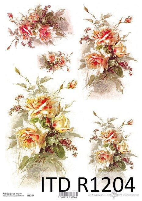 Papier ryżowy kwiaty, róże*Rice paper flowers, roses