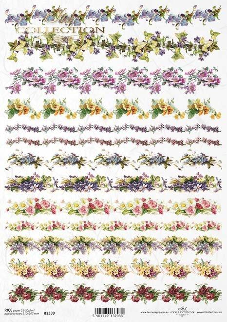 flores de decoupage de papel de arroz*Reispapier-Decoupage-Blumen*рисовая бумага декупаж цветы