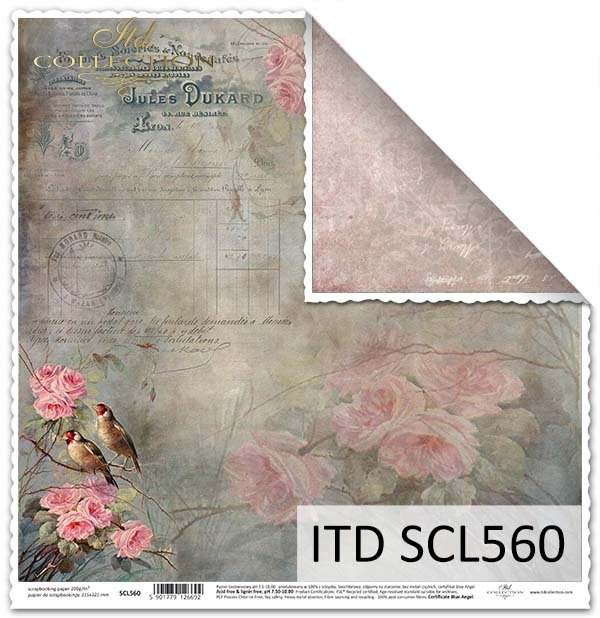 Papier scrapbooking SCL560