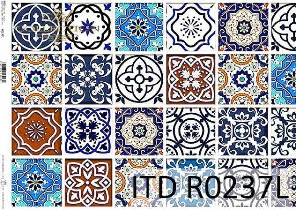 Papier ryżowy Vintage, kolorowe kafelki*Vintage rice paper, colorful tiles