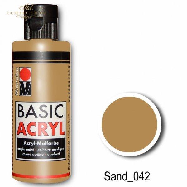 Farba akrylowa Basic Acryl 80 ml Sand 042