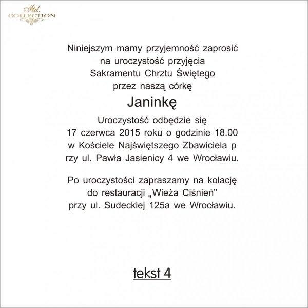 Tekst na chrzest - TC4