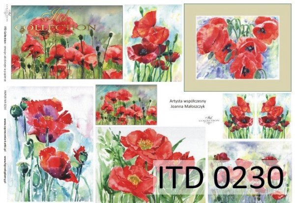 Papier decoupage ITD D0230