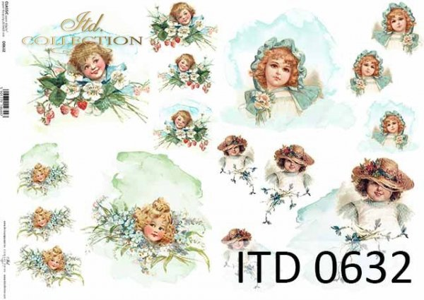 Papier decoupage ITD D0632