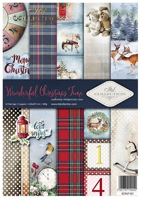 Papiery do scrapbookingu w zestawach - Cudowny świąteczny czas * Set of scrapbooking papers - Wonderful Christmas Time