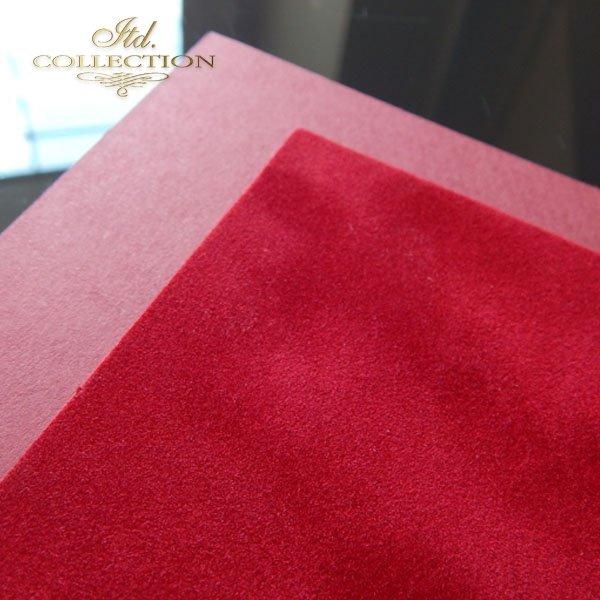.Papier do scrapbookingu kolor czerwony flok A4 * PSS005