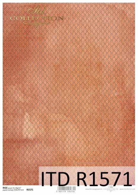 Papier decoupage Pomarańczowo-rude tło*Orange-red decoupage paper background
