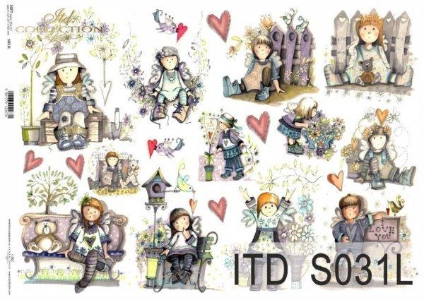 Papier decoupage SOFT ITD S0031L