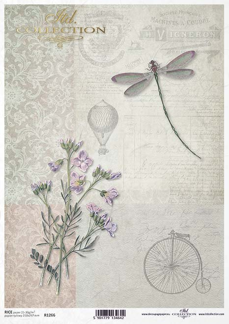 Decoupage papel retro, bicicleta, cintura, globo*Декупаж бумага ретро, велосипед, талия, воздушный шар*Decoupage Papier Retro, Fahrrad, Taille, Ballon