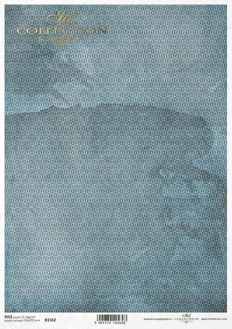 Fondo de papel decoupage azul*Blauer Decoupagepapierhintergrund*Голубой фон в технике декупаж