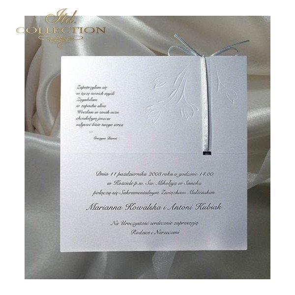 Zaproszenia ślubne / zaproszenie 1223