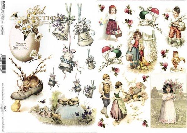 Pascua, vintage, niños, huevos de pascua, pollo, conejito*Ostern, Vintage, Kinder, Ostereier, Huhn, Hase*Пасха, винтаж, дети, пасхальные яйца, курица, зайчик