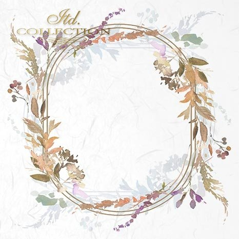 dekory, ramki, kwiaty wiosenne, łąka, akwarela