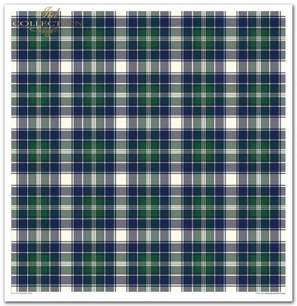 Scottish style * kratka, krateczka, świąteczna kratka, Boże Narodzenie, miś, misie, pluszowy miś, miś pod choinką
