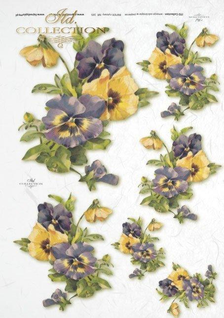 papier-ryżowy-decoupage-łąka-ogród-lato-bukiet-kwiaty-R0165