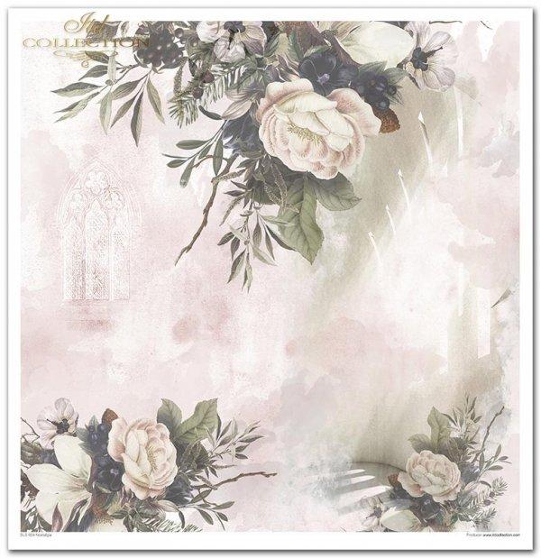 Nostalgia*okno, okna, kościół, ślub, chrzest, kwiaty, peonia, szyszka, szyszki, arkady