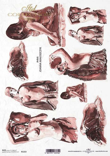 Papier Decoupagepapier zeitgenössische Malerei*Бумага Декупаж современной живописи*Papel Decoupage pintura contemporánea