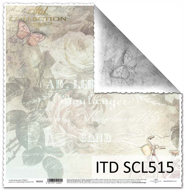 Papier scrapbooking SCL515