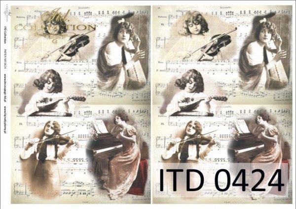 Papier decoupage ITD D0424