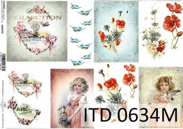 Papier decoupage ITD D0634M