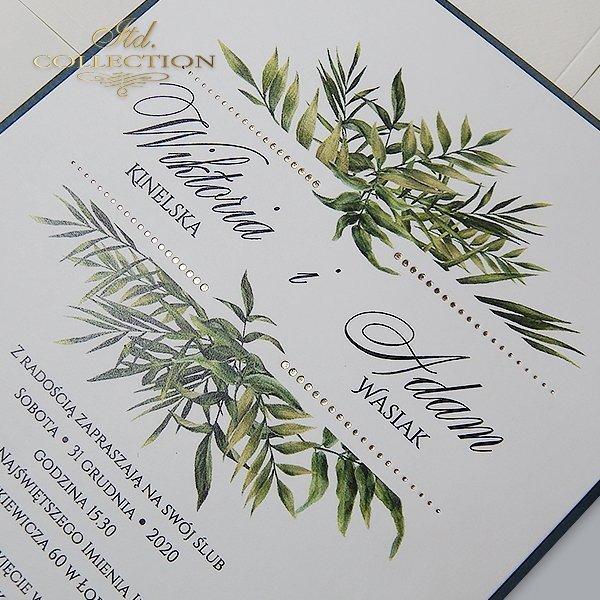 zaproszenia ślubne, zaproszenia na ślub, zaproszenia z kwiatami*Invitaciones de boda, invitaciones con flores