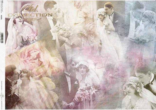 Papel decoupage Parejas jóvenes, vintage, collage*Decoupage Papier Junge Paare, Vintage, Collage*Декупаж из бумаги Молодые пары, Винтаж, Коллаж