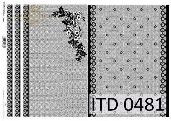 Papier decoupage ITD D0481