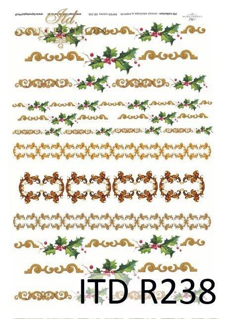 świąteczne dekory, dekoracje, Boże Narodzeni, ozdoby na Boże Narodzenie, motywy roślinne, R0238