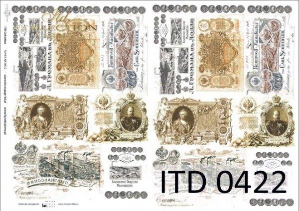 Papier decoupage ITD D0422