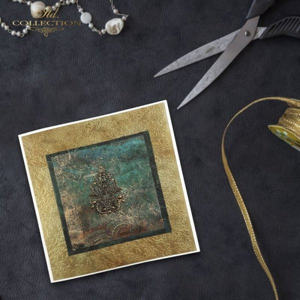 rice paper decoupage, decoupage paper, papier ryżowy do decoupage, gemstones, kamienie szlachetne * example-1