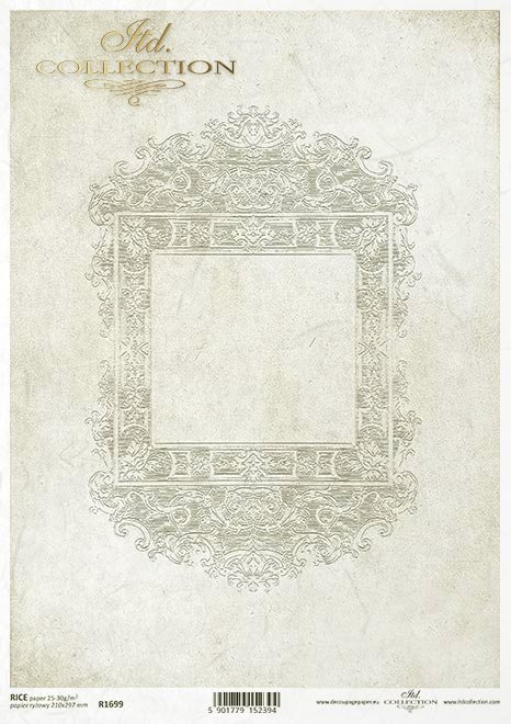Mini seria Tekstury i Ornamenty: dekory, ramki, przecierka, tło, retro, Vintage, Barok, Rokoko, kwadrat