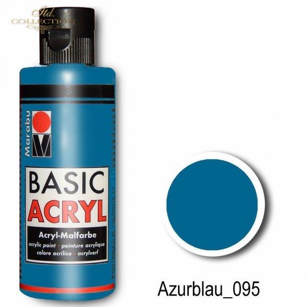 Farba akrylowa Basic Acryl 80 ml Azurblau 095