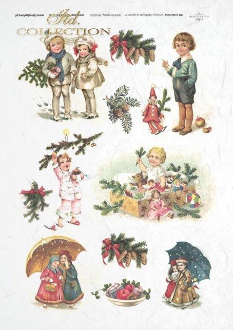 children, Christmas tree, Christmas decorations, gifts for Christmas, Christmas themes